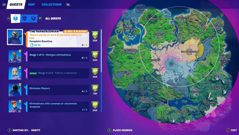 how to complete bounties in fortnite