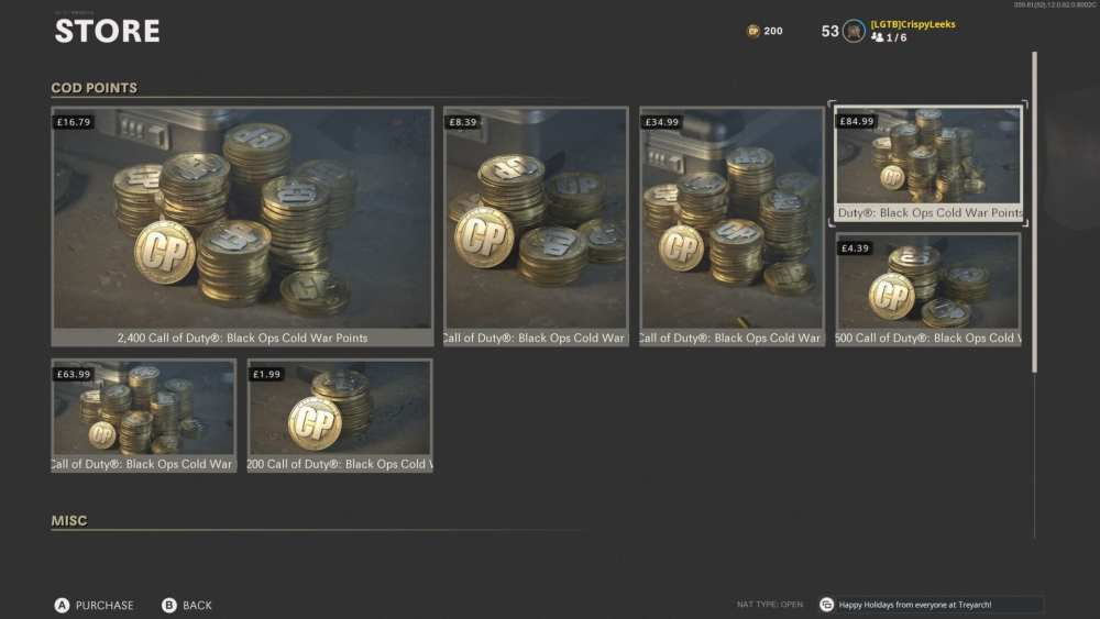 how to get cod points in black ops cold war