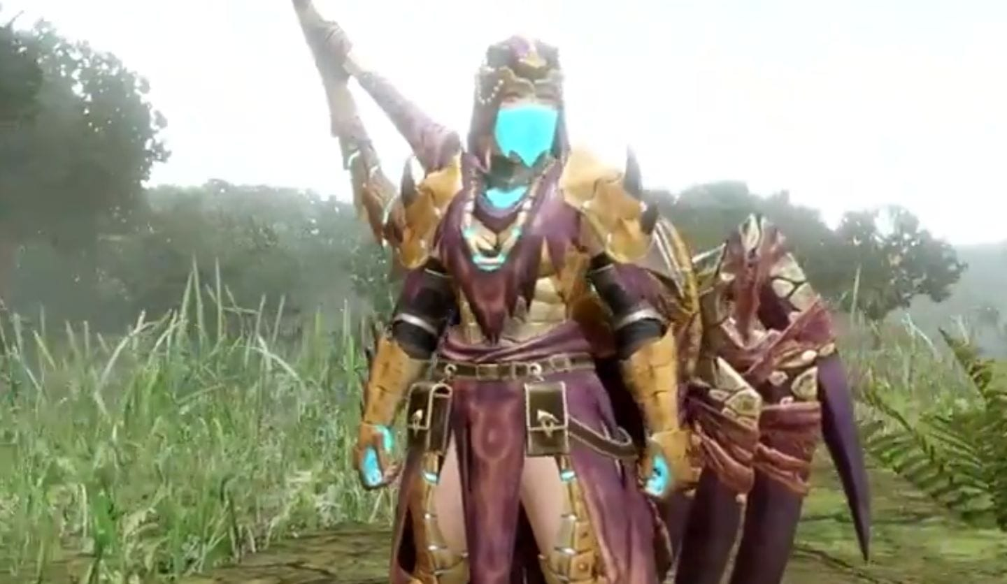 Monster Hunter Rise Reveals Somnacanth Armor for Hunters, Palico, and Palamute 1