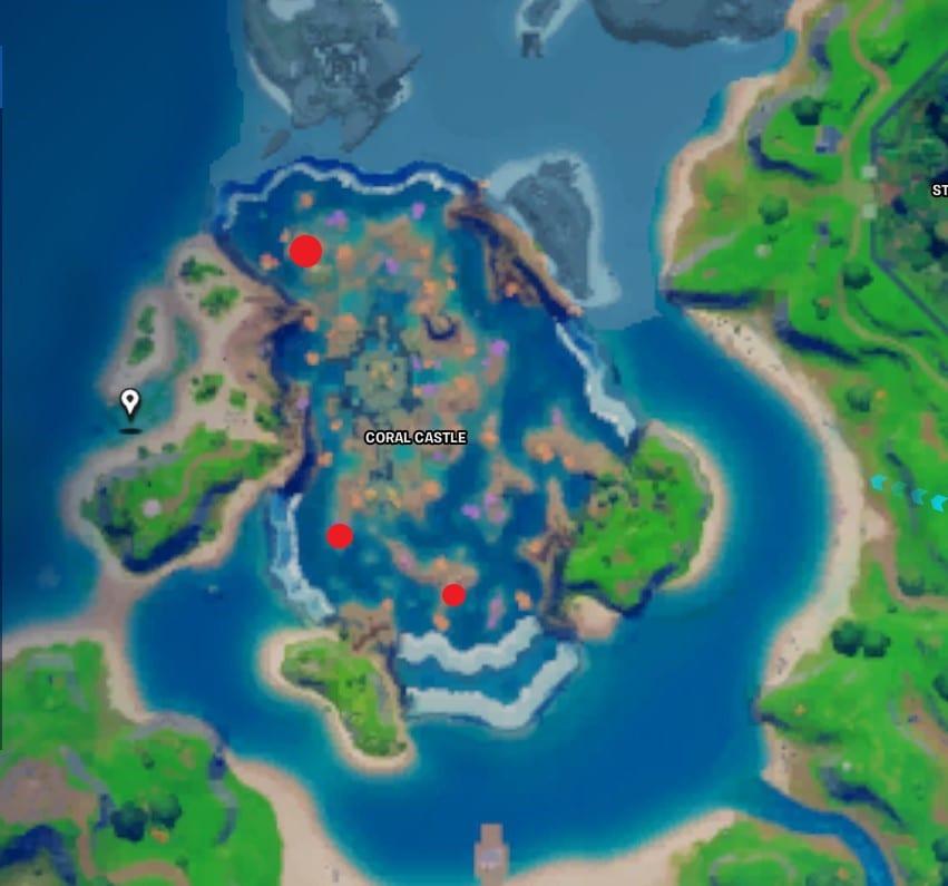 fortnite all signal coral buddies locations