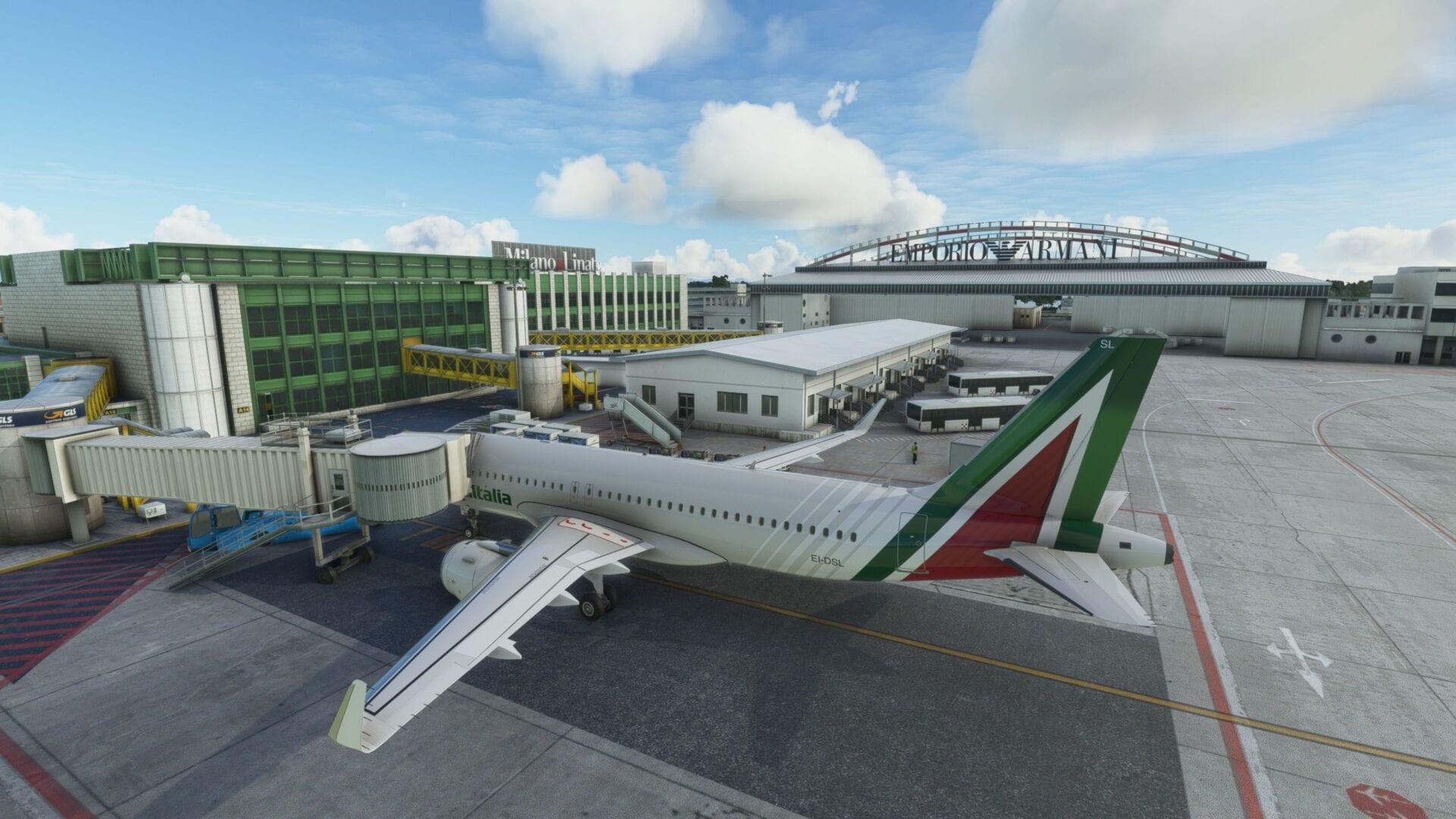 Milano Linate for Microsoft Flight Somulator Critic Review