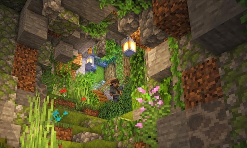 actualización de cuevas y acantilados de minecraft
