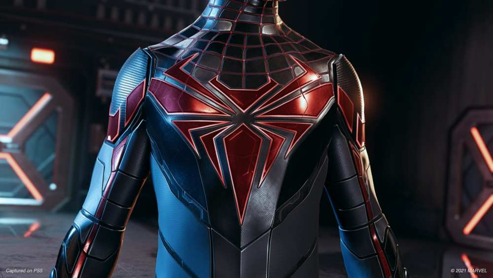 The front of the Advanced Tech Suit in Spider-Man Mile Morales