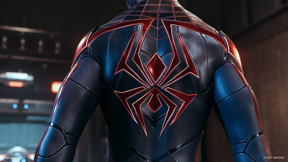 The back of the Advanced Tech Suit in Spider-Man Mile Morales