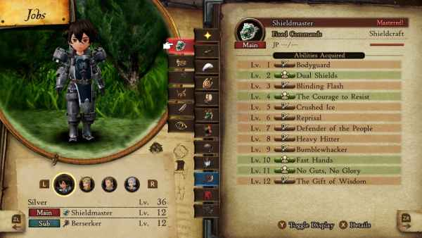 best passive ability combinations in Bravely Default 2.