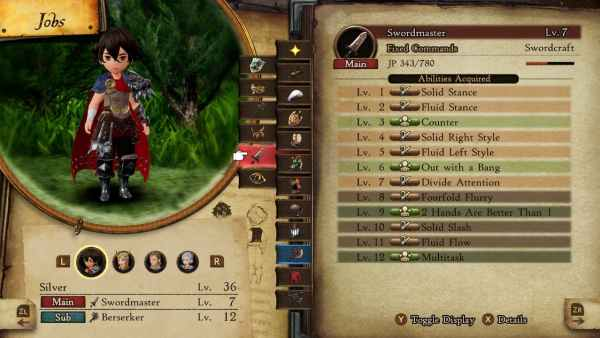 best passive ability combinations in Bravely Default 2
