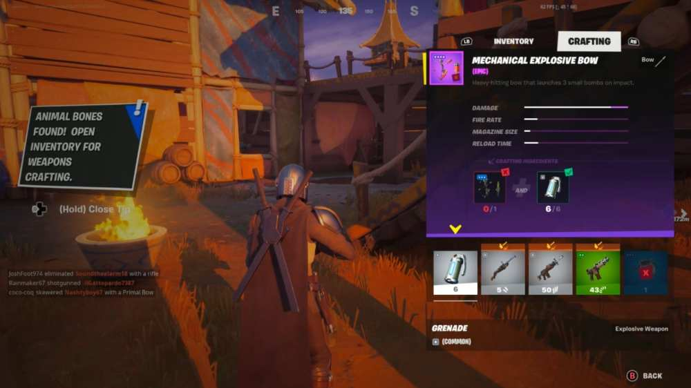 how to craft weapons in Fortnite