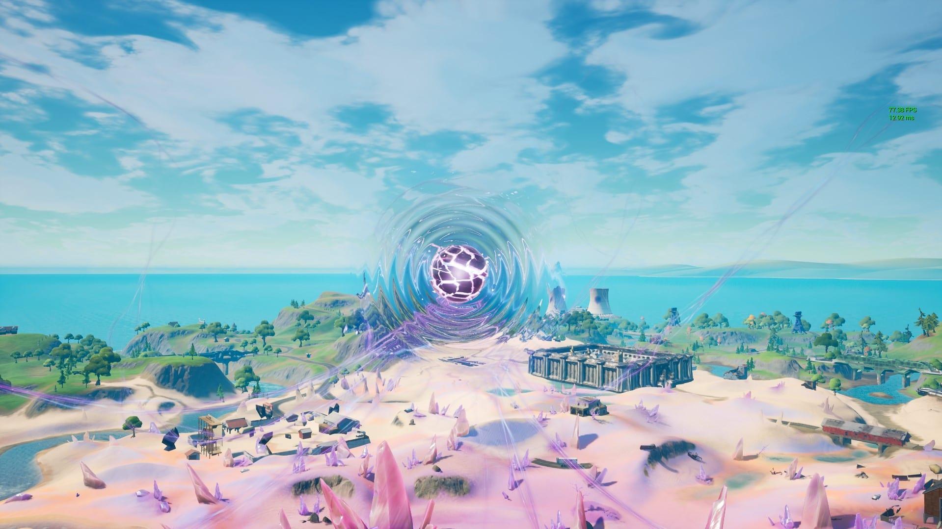 fortnite zero point purple pulsing
