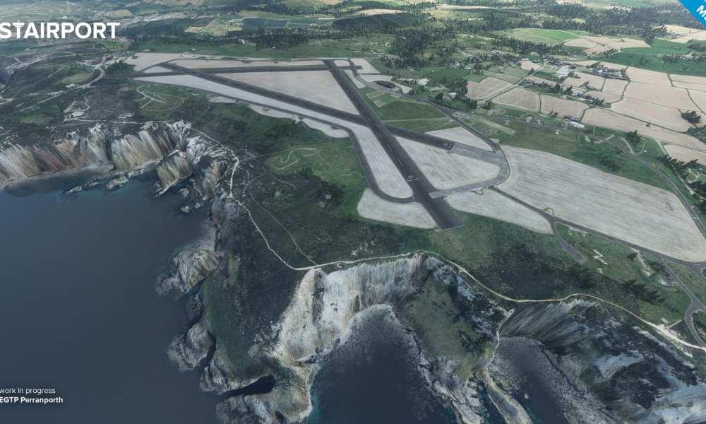 Microsoft Flight Simulator – Samedan & Alta Airports Released, Perranporth Announced, Mustang Gets New Screenshots