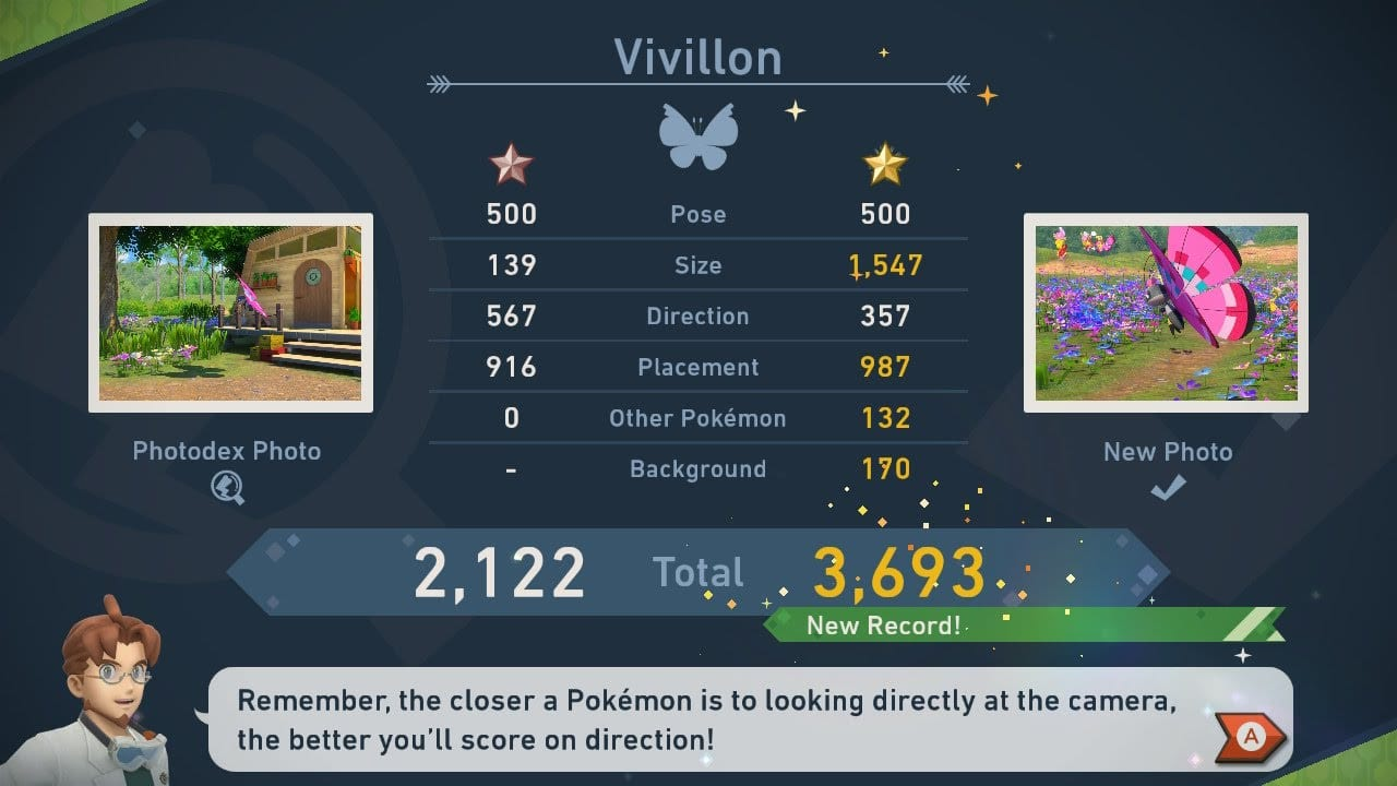 new pokemon snap vivillon