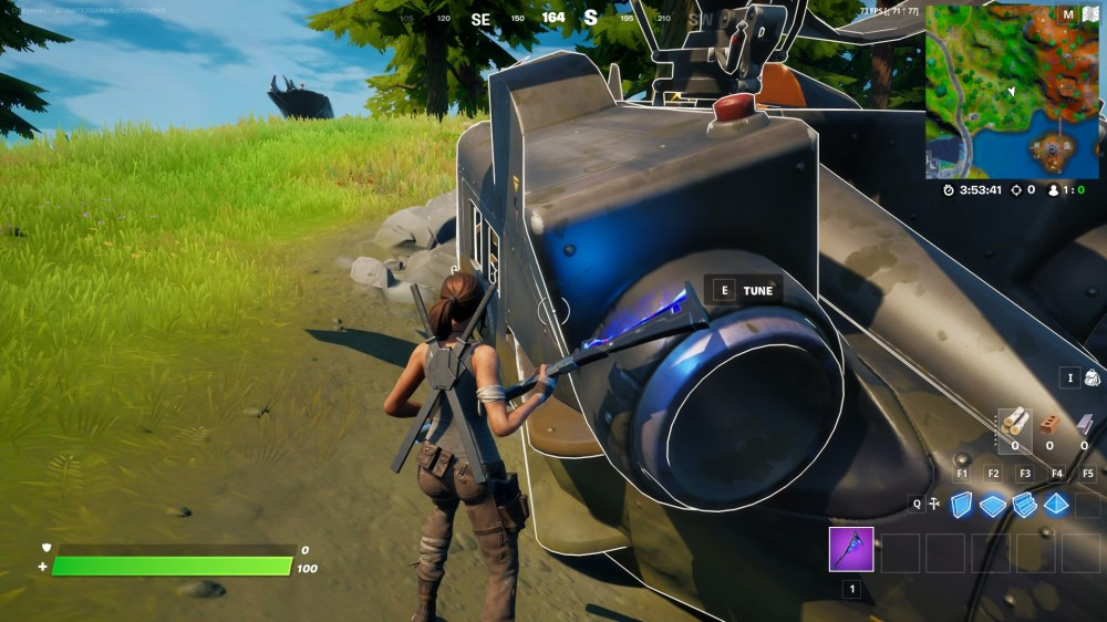 where to investigate downed black helicopter in fortnite