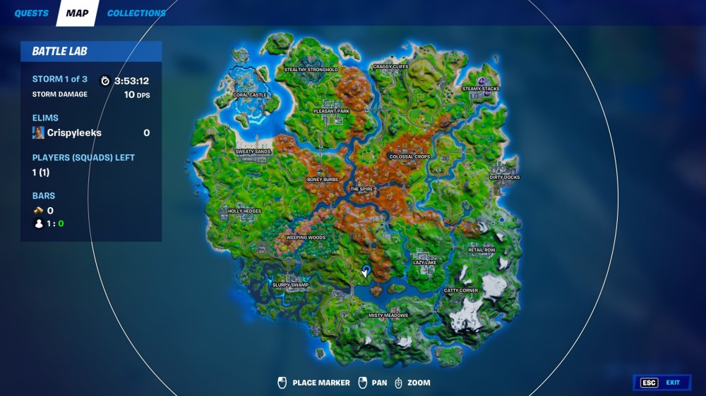 fortnite downed black helicopter location
