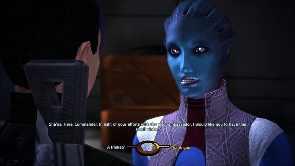 Mass Effect 1 Can You Romance Consort Sha'ira