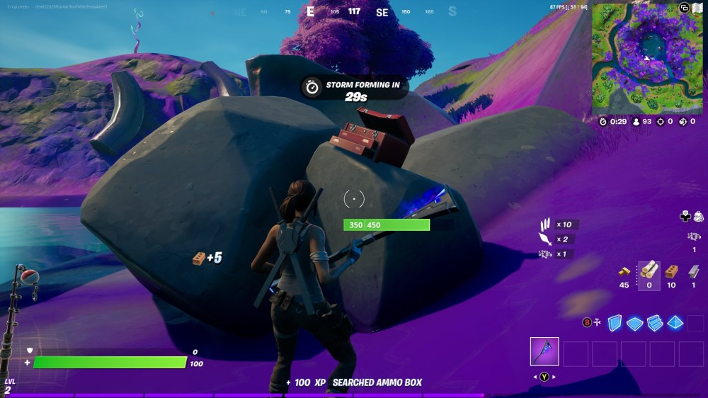 collect stone from the aftermath in fortnite