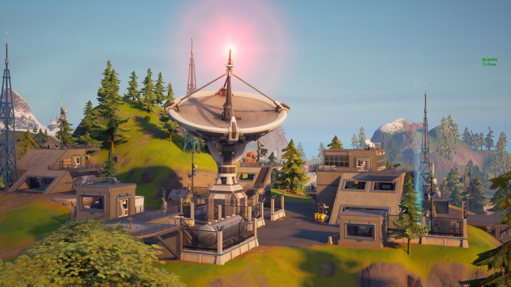 where to destroy equipment at satellite stations in Fortnite