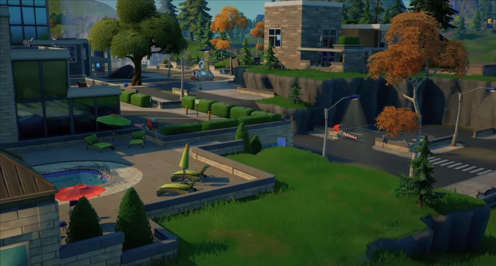 fortnite lazy lake welcome sign locations