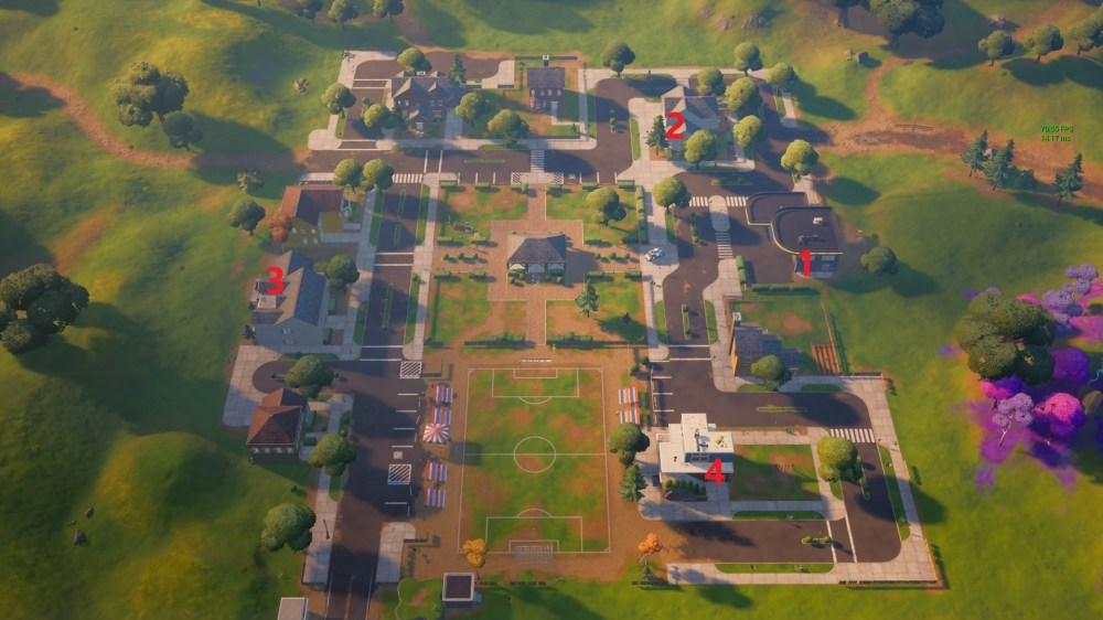 fortnite pleasant park spray can locations