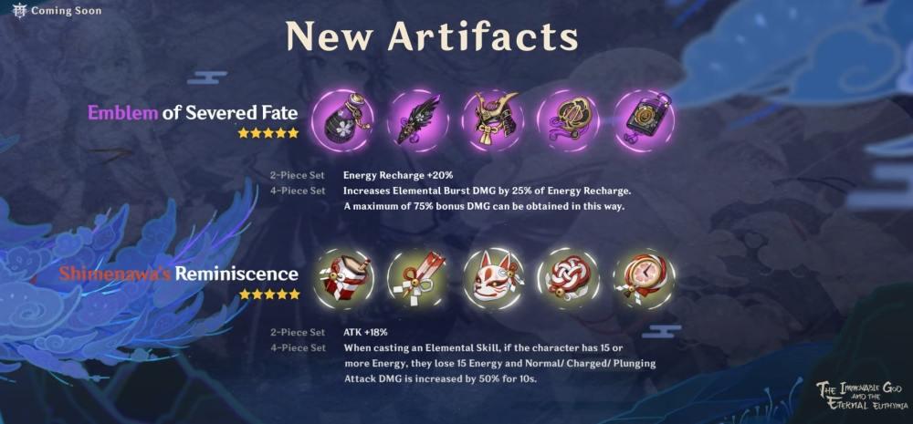 Genshin Impact 2.0 Artifacts