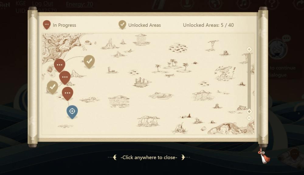Genshin Impact Mysterious Voyage Nautical Map