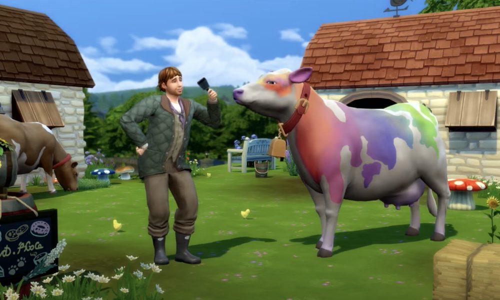 Sims 4 Rainbow Cow