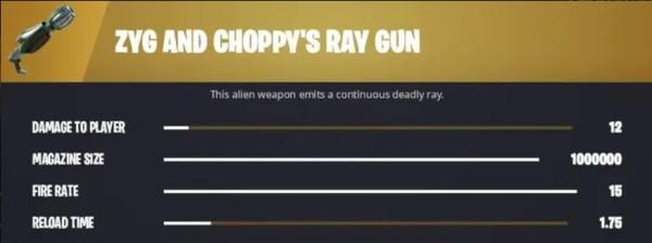fortnite zyg and choppy's ray gun