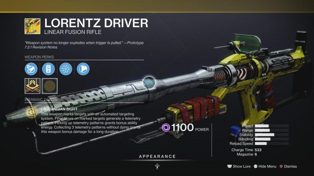 destiny 2 lorentz driver