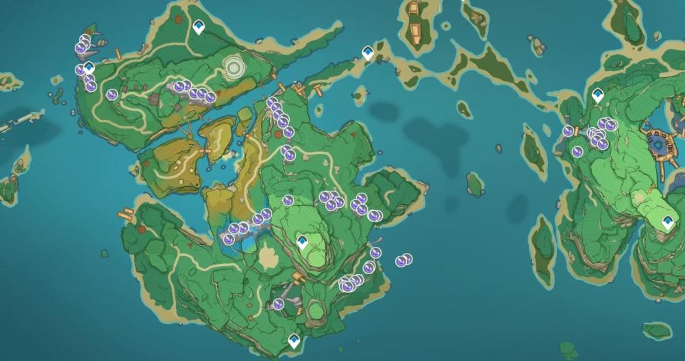Genshin Impact Crystal Marrow Map