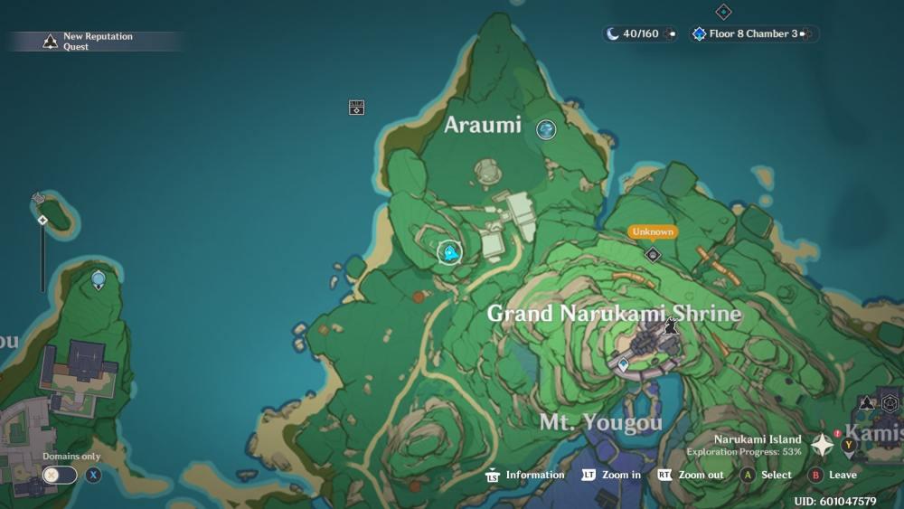 Genshin Impact Special Treasure Araumi Map