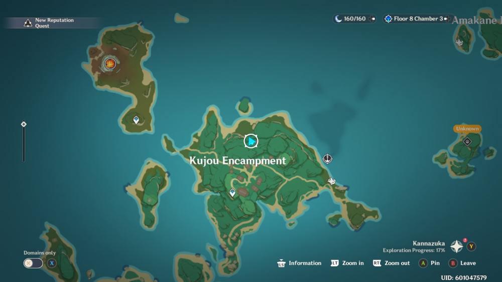 Genshin Impact Thunder Sakura Location 2 Map