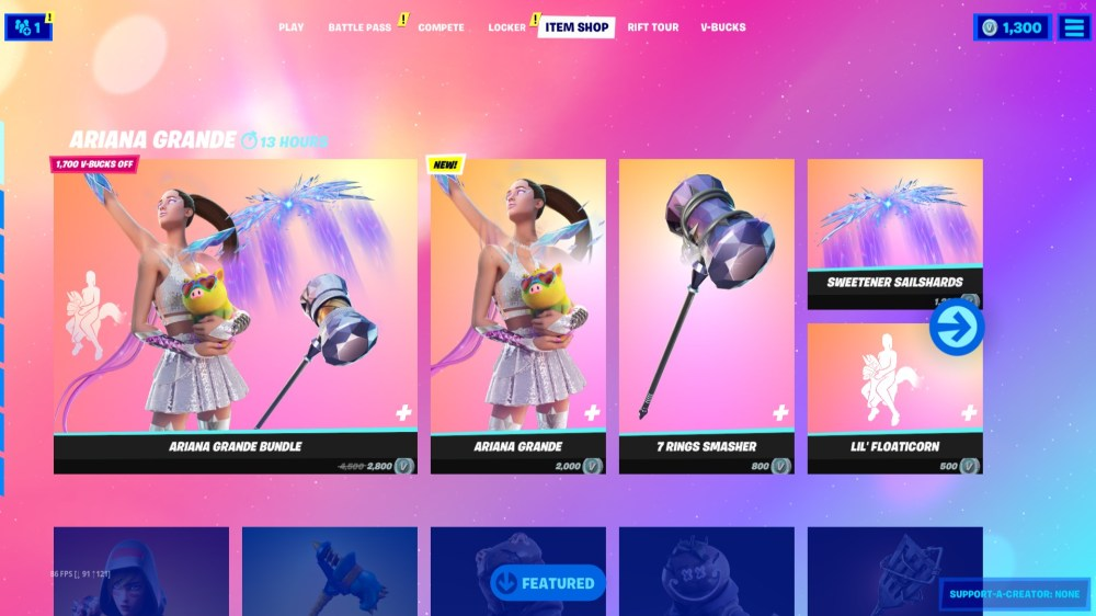 how to get ariana grande in fortnite