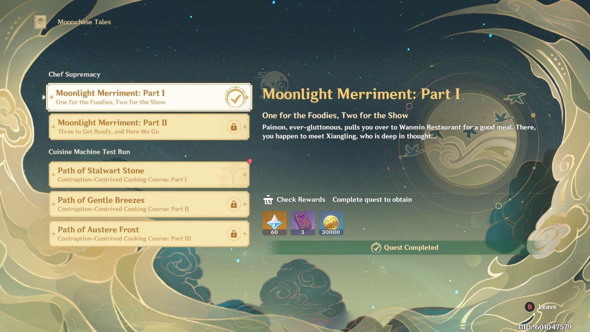 Genshin Impact Moonlight Merriment Quests festive fever