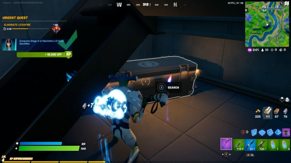 open a chest at IO Outpost in Fortnite