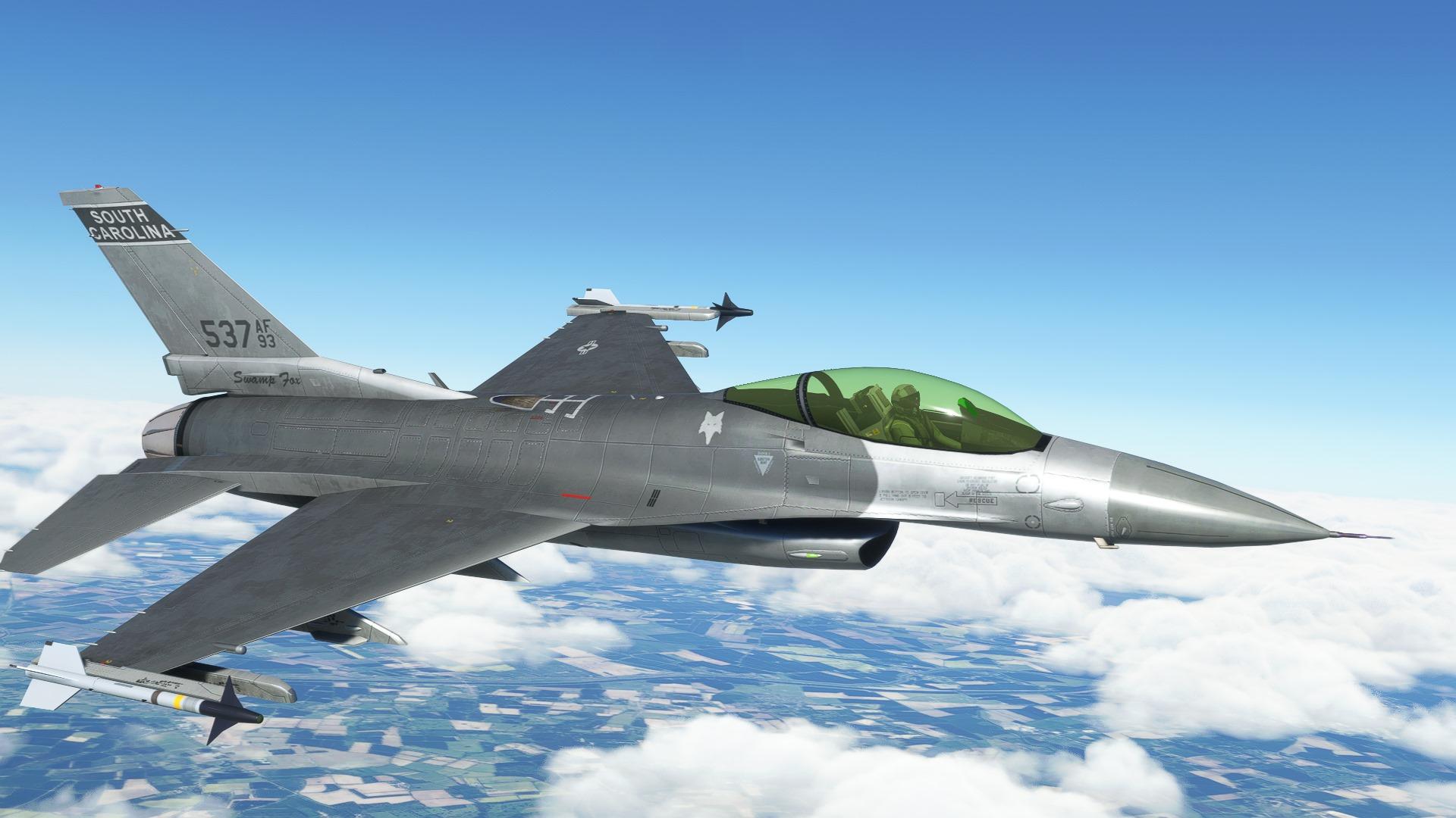 Microsoft Flight Simulator F16