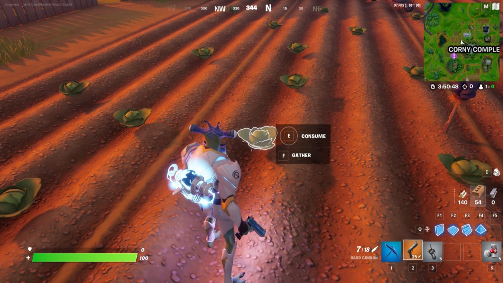 collect foraged items at corny complex in fortnite