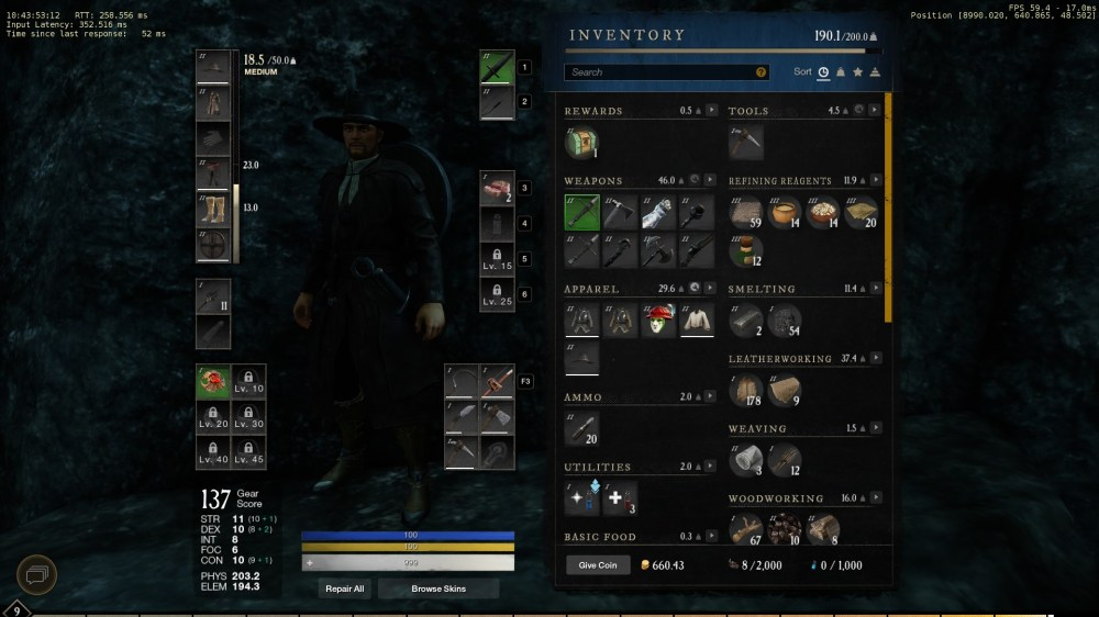 how to equip fishing rod in new world