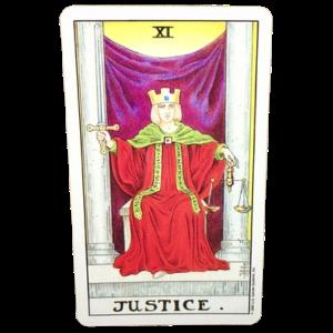 Justice Major Arcana Tarot card