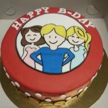 Blond Amsterdam verjaardagstaart