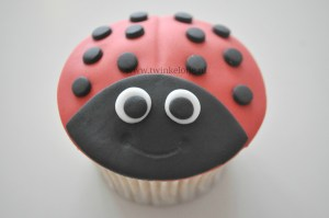 Lieveheersbeestjes cupcake