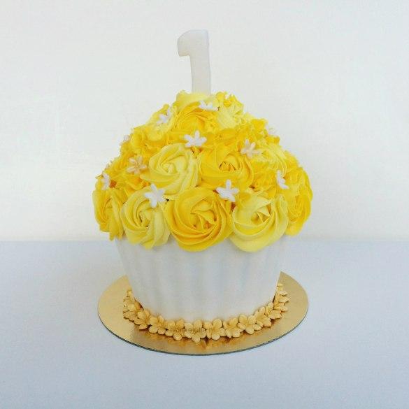 Smashcake geel-wit