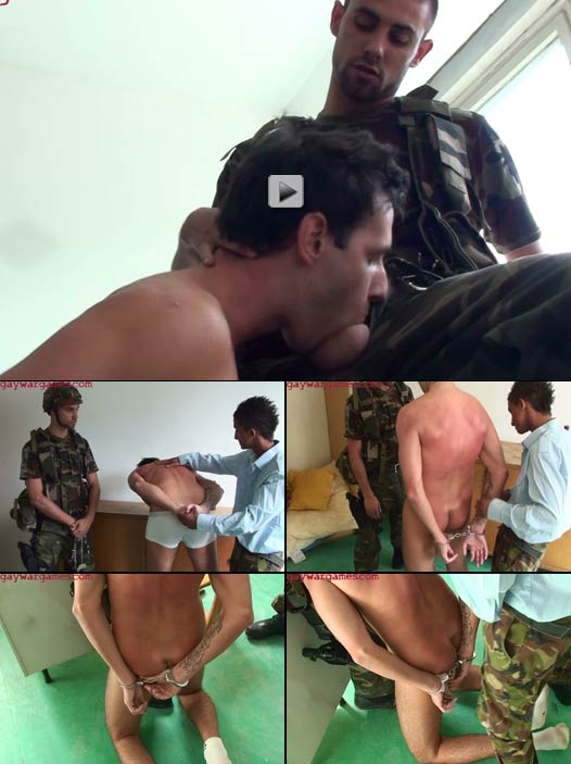 male model handcuffed and forced to suck a dick
