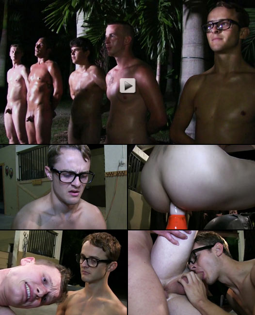 nerdy twink hazed and humiliated by sadistic frat brothers