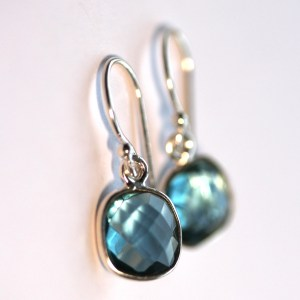 Cushion Cut Iolite Earrings