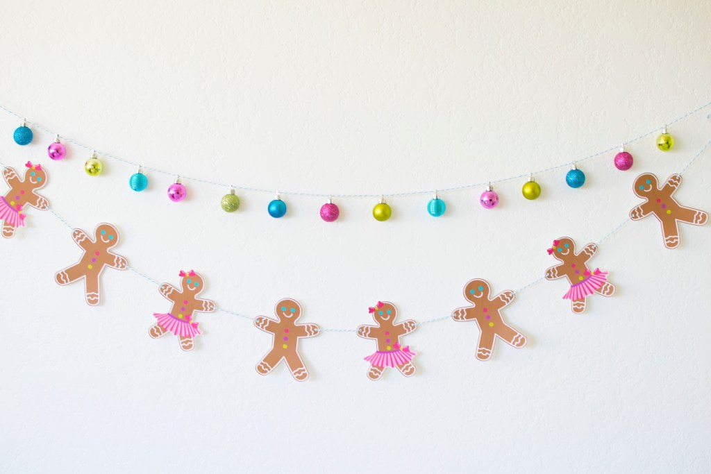 FREE Printable Gingerbread Party Garland