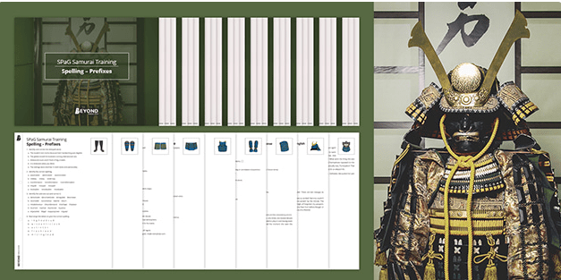 SPaG Samurai: KS3 & GCSE Spelling Worksheets Activity Pack