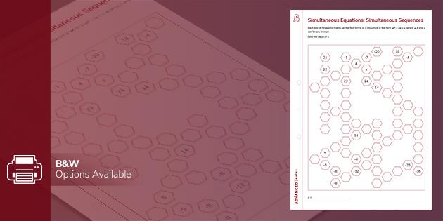 A level resources: Simultaneous Equations: Simultaneous Sequences Puzzle