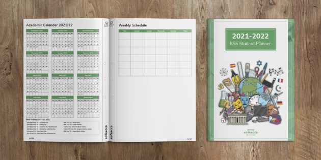 KS5 Student Planner - organisational tools in preparation for A Level