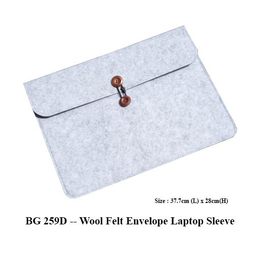 BG 259D — Wool Felt Envelope Laptop Sleeve
