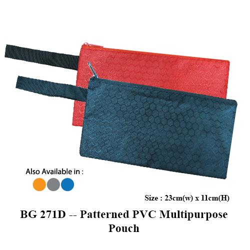 BG 271D — Patterned PVC Multipurpose Pouch