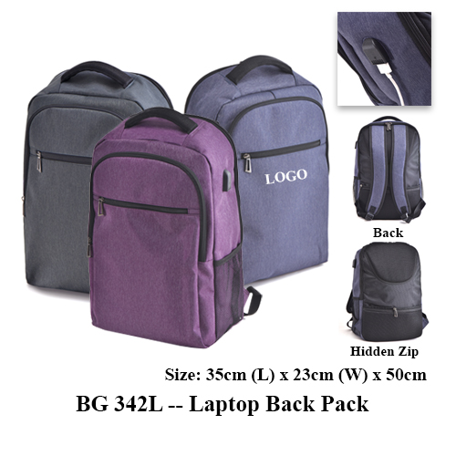 BG 342L — Laptop Back Pack