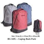 BG 345L -- Laptop Back Pack